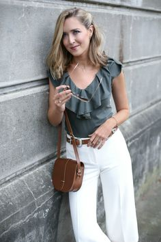 Olive and white: ending the week with my favorite summer color combo and a side of ruffles... View The Post