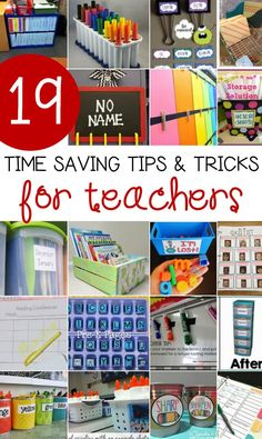 These are awesome teacher organization tips and time savers! Class management/organization These are awesome teacher organization tips and time savers!