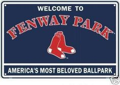 """Sign-WelcomeFenway. BOSTON RED SOX FENWAY PARK SIGN - """"WELCOME TO FENWAY"""""""
