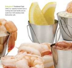 Endurance® Condiment Buckets This 2 oz. cup is ideal to use at the table for holding condiments.