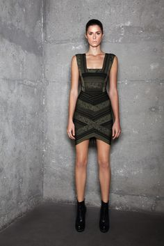 Hervé Léger by Max Azria Pre-Fall 2011 collection.