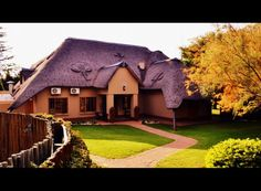 "Akwaaba means ""welcome"" and it is an appropriately chosen name to this exclusive eight-bedroom lodge with conference facilities. South African Braai, Conference Facilities, African Theme, Team Building, Relax, Exterior, Patio, Mansions, House Styles"