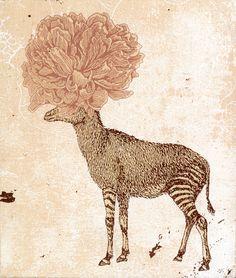 Piia Lehti: Ääretön mieli / The infinite mind 20 x 17 cm, silkscreen on plywood, 2014 Art And Illustration, Illustrations, Elk, Printmaking, Contemporary Art, Moose Art, Creatures, Plywood, Infinite