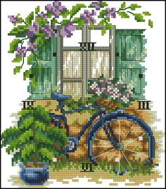 Click to close image, click and drag to move. Use arrow keys for next and previous. Cross Stitch House, Cross Stitch Kits, Cross Stitch Designs, Cross Stitch Patterns, Beaded Embroidery, Cross Stitch Embroidery, Cross Stitch Landscape, Cross Stitch Flowers, Arrow Keys