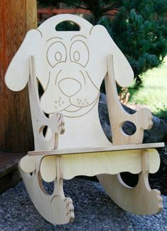 Puppy/ Dog Puzzle Rocking Chair by UniqueDesigns2013 on Etsy, $65.00