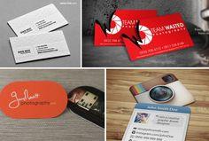 Креативные визитки фотографов