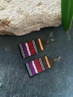 Tassel Earrings Beaded Statement Earrings Square Bohemian Handmade Fringe Drop Dangle Earrings for Women Girls – Fine Jewelry & Collectibles Beaded Tassel Earrings, Seed Bead Earrings, Fringe Earrings, Cute Earrings, Women's Earrings, Seed Beads, Hama Beads, Magenta, Native American Beading