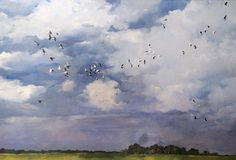 Sky with birds, Patty Ortega on ArtStation at https://www.artstation.com/artwork/sky-with-birds