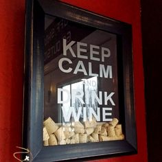 Keep calm and drink wine shadow box - distressed box on Etsy, $53.00