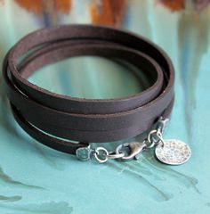 RESERVED for Tamara Brown Leather Wrap Bracelet by LynnToddDesigns