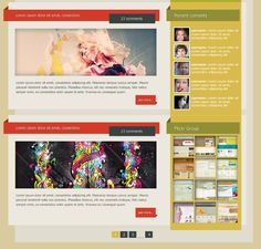 How to create a trendy/colorful wordpress layout in Photoshop