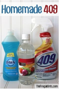 Save $$ on cleaning supplies with this Homemade 409 Recipe! Just a few simple ingredients, and you're on your way to an effective and thrifty all-purpose cleaner! Homemade 409 Recipe: 2 Tbsp. Disti...