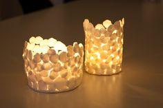 beautiful tea light holders by ida/midtimellem