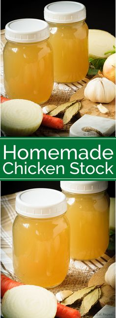 Homemade Chicken Stock - Homemade chicken stock is so easy to make, you'll wonder why you've ever bought it. Plus, it's so much tastier, and freezes well to always have on hand! Homemade Chicken Stock, Canadian Food, Healthy Food Delivery, Soup And Salad, Soups And Stews, Slow Cooker Recipes, Healthy Dinner Recipes, Chicken Recipes, Tasty