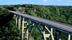 This is a picture of the bridge that connects the Matanzas province of Cuba (where Varadero is located) to the neighbouring province in which Havana is. the bridge is some 120 meters above ground at the highest point.