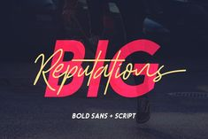 Big Reputation - Font Duo by Sarid Ezra on @creativemarket