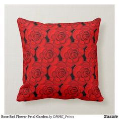 Shop Rose Red Flower Petal Garden Throw Pillow created by ONME_Prints. Pretty Flowers, Red Flowers, Red Roses, Custom Pillows, Decorative Pillows, Flower Pillow, Blooming Rose, Perfect Pillow, Flower Petals