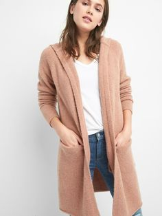 Gap Womens Textured Open-Front Cardigan Charcoal Heather | Open ...