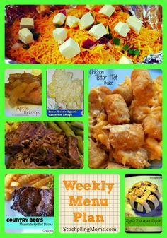 Weekly Menu Plan to help save you time and money in the kitchen.