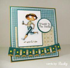 KraftinKimmie Kraftin' Kimmie Stamp Moonlight Whispers Shine On! (Card Front)