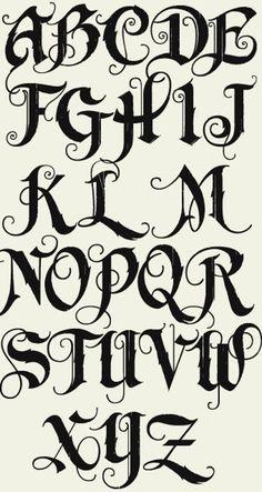 Graffiti Alphabet Fonts, Tattoo Fonts Alphabet, Tattoo Lettering Fonts, Hand Lettering Alphabet, Calligraphy Letters, Caligraphy, Alphabet Letters, Typography Fonts, Grafitti Letters