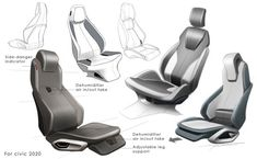 29 ideas for car seating design Car Interior Sketch, Car Interior Design, Car Design Sketch, Interior Concept, Automotive Design, Car Sketch, Bicycle Sketch, Car Chair, Aircraft Interiors