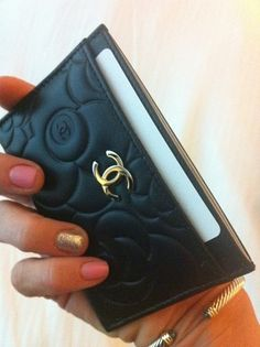 Chanel Shopping Credit Card Case #credit Credit Cards