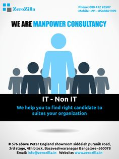 manpower consultancy in Bangalore  Website : www.zerozilla.com