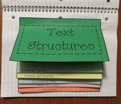 Free Text Structures Graphic Organizer