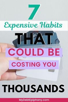 expensive habits Earn More Money, Ways To Save Money, Money Tips, Money Saving Tips, Financial Goals, Financial Planning, Setting Up A Budget, Build Credit, Manifesting Money