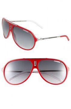 Óculos Carrera Women's Eyewear Hots 64mm Aviator Sunglasses Red #Carrera#Óculos