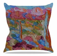 Saguaros in Spring Throw Pillow