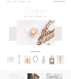 Camille WordPress Theme | My Boutique Themes  WordPress Themes | Lifestyle Blog Theme | Fashion Blogger | GirlBoss   Blog Design | Feminine WordPress Theme | Pink WordPress Theme for Beauty   Bloggers #WordPressTheme #BlogDesignInspo #BlogDesign