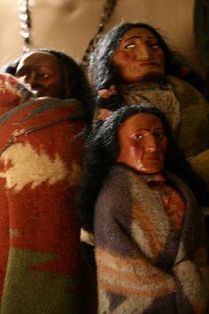 Vintage souvenir Skookum dolls