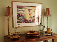 decorating in the dining room with my thrift store finds