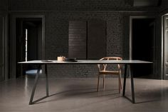 """Ultra thin Marble Tables ultra thin carrara marble table5/Designer Piero Lissoni has created a new line of tables for Salvatori called """"Dritto""""."""