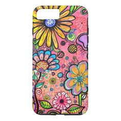 cute  Flower Drawing  iPhone 11 Case