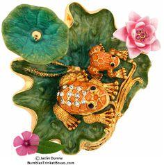 Trinket Box: New Frog on Lily PadTrinket Box