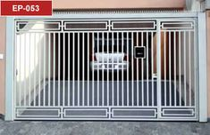 Discover recipes, home ideas, style inspiration and other ideas to try. Grill Gate Design, Door Gate Design, Fence Design, Metal Gates, Wrought Iron Doors, Modern Main Gate Designs, Backyard Gates, Garage Gate, Steel Gate