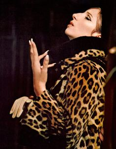 Barbra Streisand, having a moment in Funny Girl, 1968.