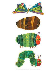 The Very Hungry Caterpillar 4 by Eric Carle. Massive range of art prints, posters & canvases. Quality UK framing & Money Back Guarantee! The Very Hungry Caterpillar Activities, Caterpillar Art, Hungry Caterpillar Party, Eric Carle, Chenille Affamée, Bright Art, Children's Book Illustration, Book Illustrations, Hungry Caterpillar
