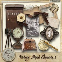 Vintage Mixed Elements 1