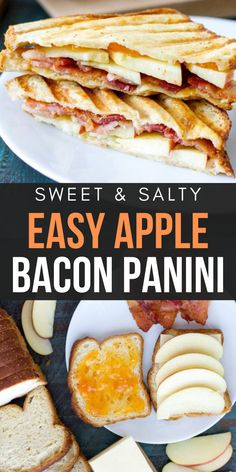 This Apple Bacon Cheddar Panini is sweet salty and absolutely scrumptious! This combination will have you coming back for seconds. Apple Recipes, Fall Recipes, Beef Recipes, Great Recipes, Cooking Recipes, Favorite Recipes, Panini Recipes, Brunch Recipes, Bon Appetit