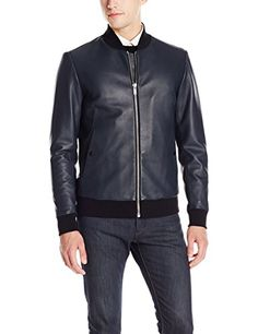 c4a7cffe6eb15 Theory Men s Malone Variet Leather Jacket