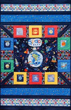 Your toddler will blast off to dreamland under this Out of this World quilt. A perfect size for the transition from crib to toddler bed.