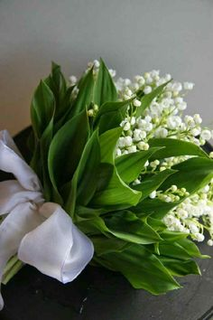 Lily of the valley, Bridal bouquet! Wedding bouquet, elegant bouquet, classic bouquet, ships in one Bridal Flowers, Fresh Flowers, White Flowers, Beautiful Flowers, White Tulip Bouquet, Lilies Flowers, Exotic Flowers, Tropical Flowers, Bride Bouquets
