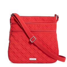 a284a0856f Vera Bradley Triple Zip Hipster Crossbody Bag in Tango Red  crossbody   tango  hipster