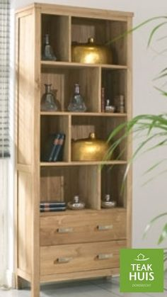 teakhouten boekenkast 14 prachtige boekenkast met 2 laden te leveren in de kleuren koloniaal