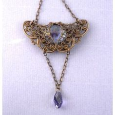 Undomiel Filigree Necklace Brass Vintage Artglass Jewelry Inspired by Tolkien's Lord of the Rings (Apparel)  http://www.43coupons.com/amapin.php?p=B001L4OLJ0