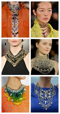 2016 Jewelry Trends: Statement necklaces. More on: http://trends.jewelry/top-7-jewelry-trends-for-2016-that-youve-missed/